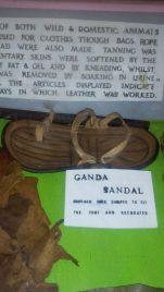 Ancient / olden sandals for the baganda