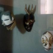 Ancient, African- olden masks