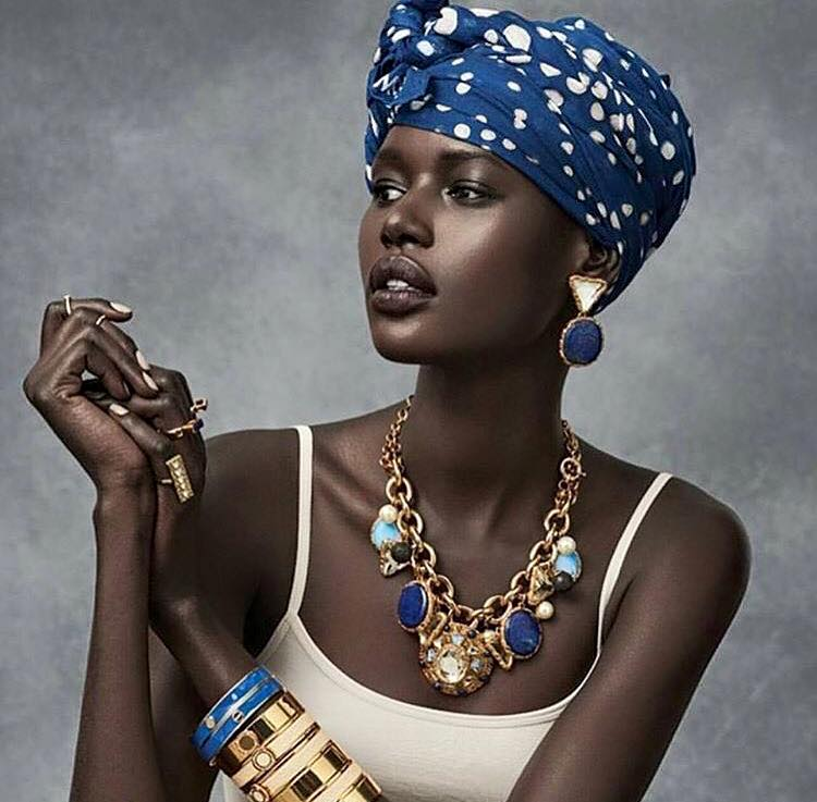 Beautiful dark skinned lady