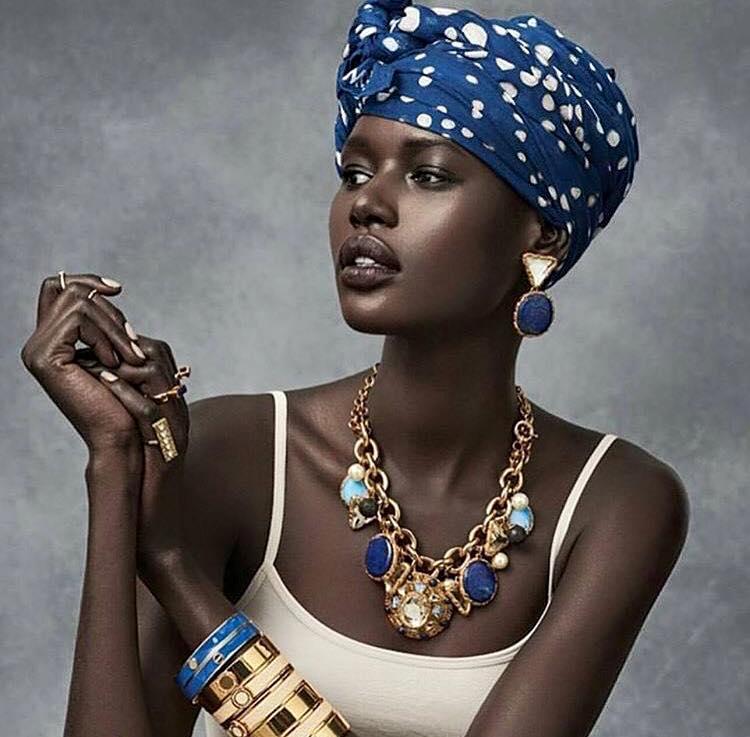 Beautiful dark skinned lady