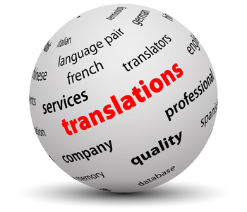 This is a translations globe image
